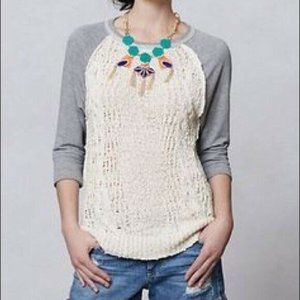 Anthropologie Dolan Parknit Knit Sweatshirt XS